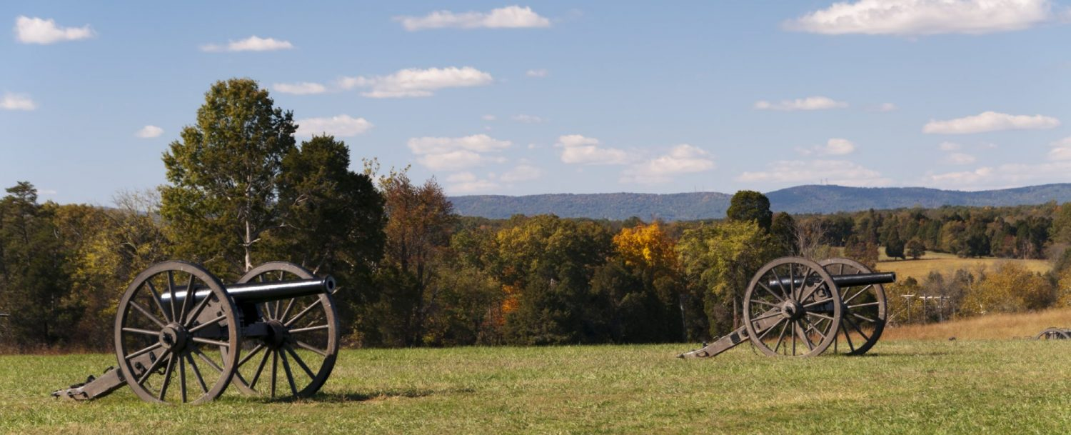 Cannons on the Manassas National Battlefield, Virginia