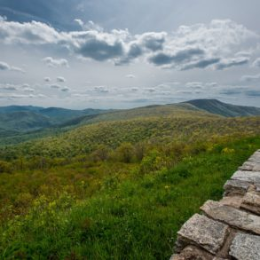 Overlook on the Shenandoah Valley Skyline Drive