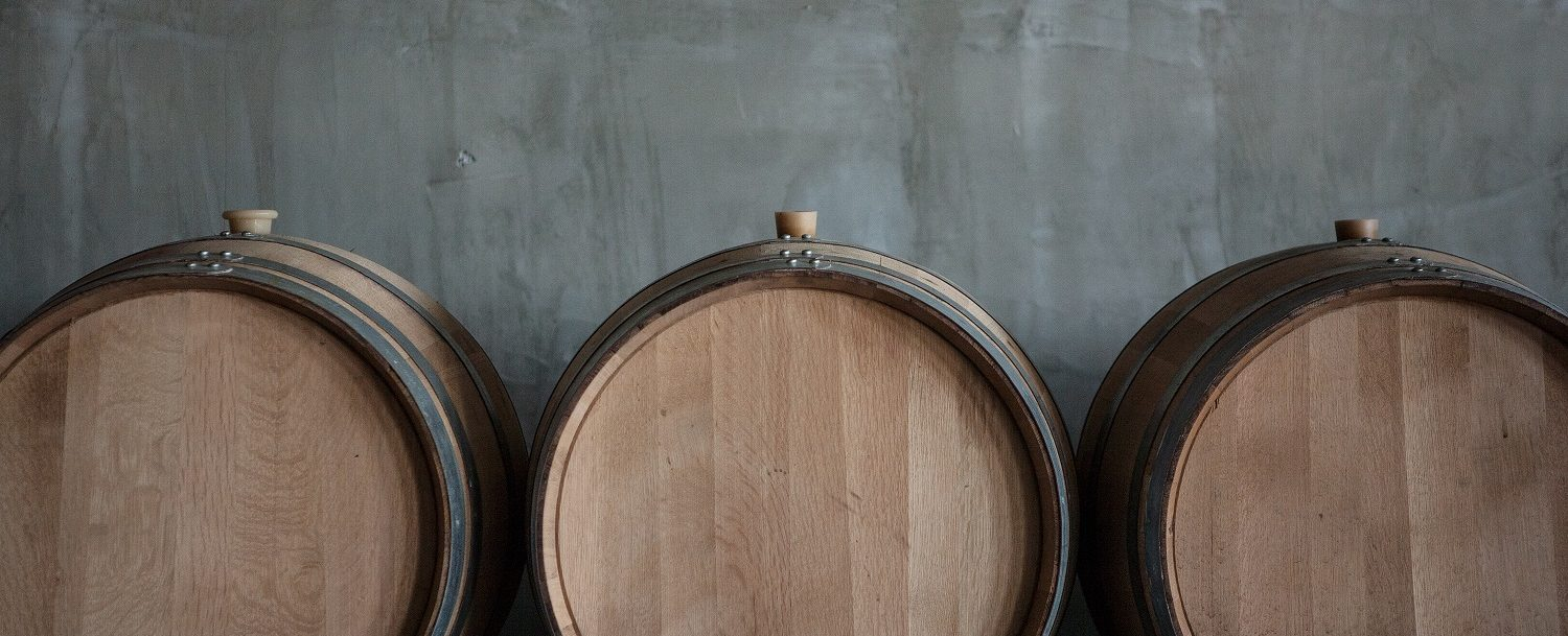 Chester Gap Cellars | Barrels in concrete area